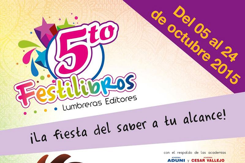 REGRESAMOS. 5to Festilibros Lumbreras del 05 al 24 de octubre.