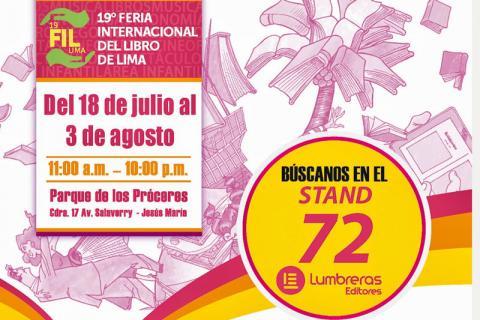 FIL. Afiche de la 19ª Feria del Libro de Lima.